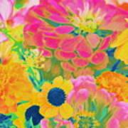 Summer Blossoms - Pop Art Art Print