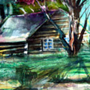 Summer Cabin Art Print by Mindy Newman