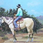 Summer Cowboy Art Print