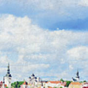 Summer Day In Tallinn Art Print