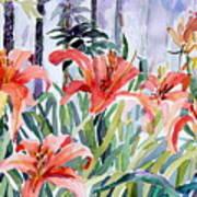 My Summer Day Liliies Art Print