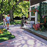 Summer Day On The Cape Art Print by Laura Lee Zanghetti