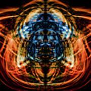 10643 Summer Fire Mask 43 - Logi Art Print