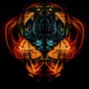 10644 - Summer Fire Mask 44 - The Battle Imp Art Print