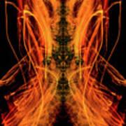 10658 Summer Fire Mask 58 - Dance Of The Fire Queen Art Print
