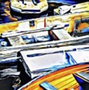 Summer Fishing Boats Art Print