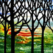 Summer Forest Abstract  Art Print