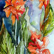 Summer Glads Art Print by Mindy Newman