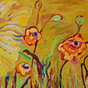 Summer Hibiscus Flower Art Print