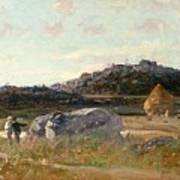Summer Landscape Art Print by Luigi Loir