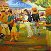 Summer Market Art Print