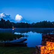 Summer Nights On The Pond Art Print