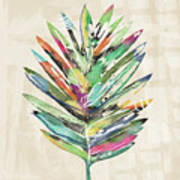 Summer Palm Leaf- Art By Linda Woods Art Print