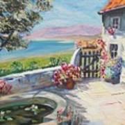 Summer Patio Art Print