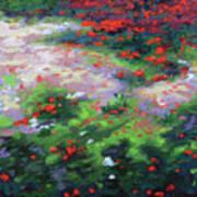 Summer Petals On A Forest Ground Art Print