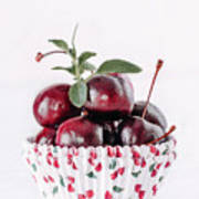 Summer Red Cherries Art Print