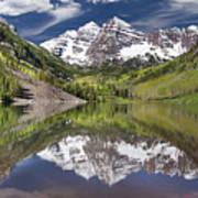 Maroon Bells Aspen Colorado Summer Reflections Art Print