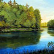 Summer River Art Print