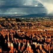Summer Storm At Bryce Canyon National Park Art Print