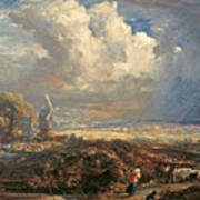 Summer Storm Near Pulborough. Sussex Art Print