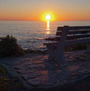 Summer Sunrise, Marginal Way, Ogunquit, Maine  -67904 Art Print