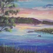 Summer Sunset On Fish Lake Art Print