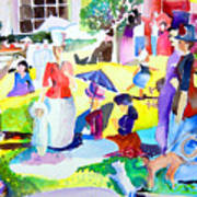 Summer With In The Park With George Art Print