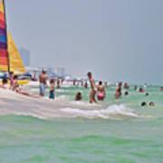 Summers Day On Pensacola Beach Art Print
