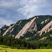 Summertime At The Flatirons Art Print