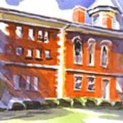 Summery Afternoon Sunshine At The Courthouse Art Print