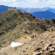 Summit On Mount Massive Summit Art Print