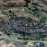 Summitpointe Golf Club Golf Course Aerial Art Print