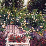 Sumptous Cascading Roses Art Print by David Lloyd Glover