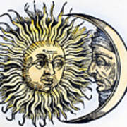 Sun And Moon, 1493 Art Print
