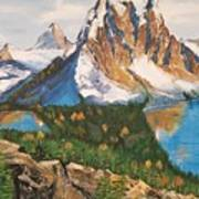 Sun Burst Peak Canada  Art Print