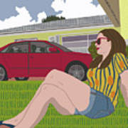 Sun Days Art Print
