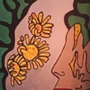 Sun Flower Conection Art Print