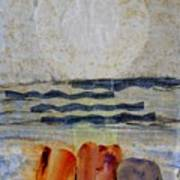 Sun Fog Rocks Art Print