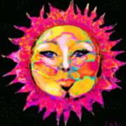Sun Goddess She Sun Art Print