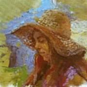 Sun Hat #1 Art Print