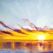 Sun In A Lake Art Print