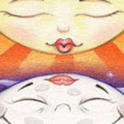 Sun Kissed Moon Art Print