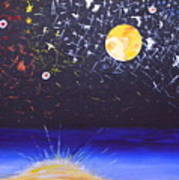 Sun Moon And Stars Art Print by Donna Blossom