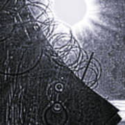 Sun Over Barbed Wire Art Print