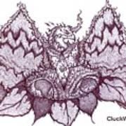 Sun Phoenix Flower Of Flame Art Print