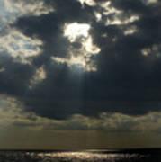 Sun Rays Pierce Through Clouds And Rest Art Print
