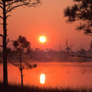 Sun Rise At Red Lake Grayton Beach State Park Florida Art Print