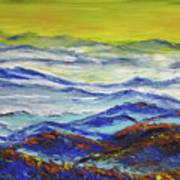 Sun Rise Blue Mountain Art Print