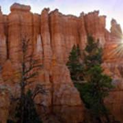 Sun Rising In Bryce Canyon Art Print