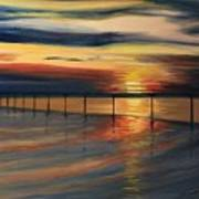 Sun Set At Seabridge Art Print